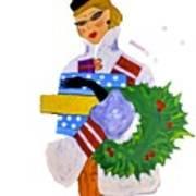 Christmas Shopping - Shop On-line Art Print