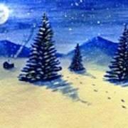 Christmas Snow Art Print