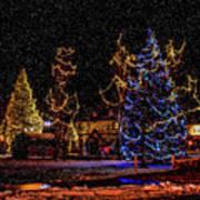 Christmas Snow Storm In Big Bear Art Print
