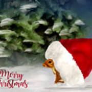 Christmas Squirrel  Greeting Card Art Print