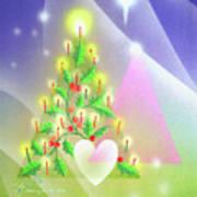 Christmas Tree And Colors Art Print
