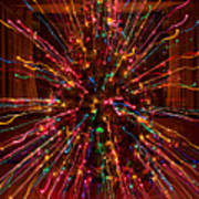 Christmas Tree Colorful Abstract Art Print