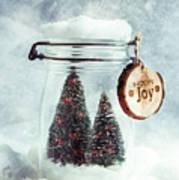 Christmas Tree Snowglobe Art Print