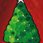 Christmas Tree Twinkle Art Print