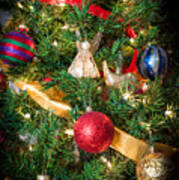 Christmas Tree With Angel 4 Art Print