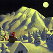 Christmas Under Olympus Art Print