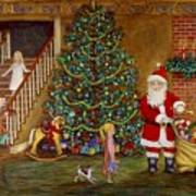 Christmas Visitor Print by Linda Mears