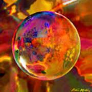 Chromatic Floral Sphere Art Print