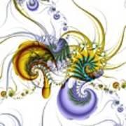 Chromatic Shrimp Art Print by David April