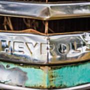 Chrome Chevrolet Art Print