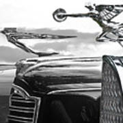 Chrome Hood Ornaments Vintage Cars Art Print