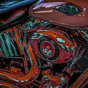 Chrome Leather And Power 1481 H_2 Art Print