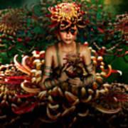Chrysanthemum Bouquet 004 Art Print