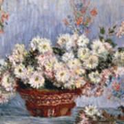 Chrysanthemums, 1878  Art Print