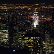 Chrysler Building At New York City Print by Philippe Brunel