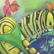 Chubby Little Caterpillars Art Print