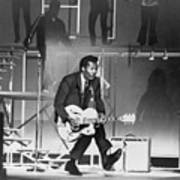 Chuck Berry B. 1926 On Stage, Playing Print by Everett