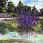 Chuhuly Installation At Biltmore Water Gardens Art Print