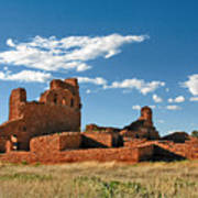Church Abo - Salinas Pueblo Missions Ruins - New Mexico - National Monument Art Print