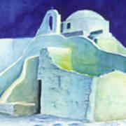 Church At Dusk Art Print