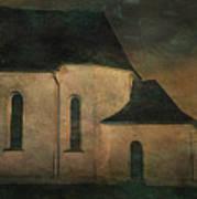 Church At Twilight Art Print