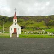 Church At Vik I Myrdal Iceland Art Print