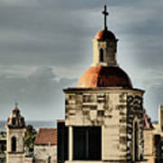Church Bell Tower, Old Havana Art Print