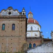 Church Building In Cotacachi Art Print