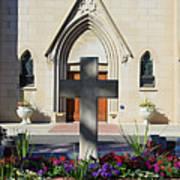 Church Entrance Cross Art Print