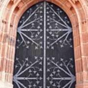 Church Door In Eltville Art Print