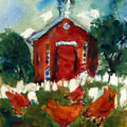 Church Hens Art Print