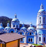 Church In Banos Ecuador Art Print by Al Bourassa