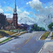 Church In Georgetown Downtown  Art Print