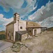 Church In Iqrit Art Print by Marwan  Khayat