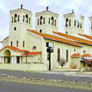 Church In New Mexico Multiplied Art Print