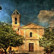 Church In Peillon Art Print