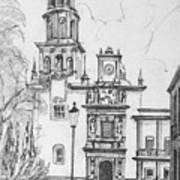 Church In Queretaro, Mx Art Print
