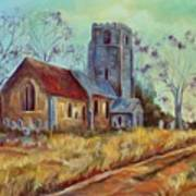 Church In Suffolk  Art Print
