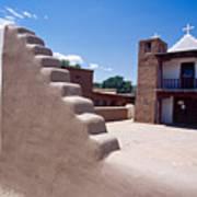 Church Of Taos Pueblo New Mexico Art Print