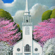 Church Of The Dogwoods Art Print
