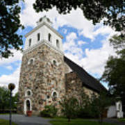 Church Of The Holy Cross At Rauma Art Print