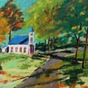 Church On The Bend Landscape Art Print by John Williams