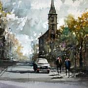 Church On The Hill Art Print by Ryan Radke
