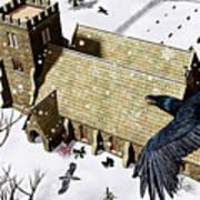 Church Ravens Art Print