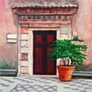 Church Side Door - Taormina Sicily Art Print
