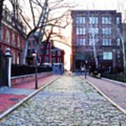 Church Street Cobblestones - Philadelphia Art Print by Bill Cannon