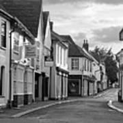 Church Street Sawbridgeworth In Black And White Art Print