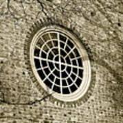 Church Window And Shadows 2 Art Print