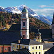 Churches In Berchtesgaden Art Print