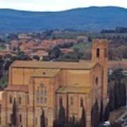 Churches Of Sienna Art Print